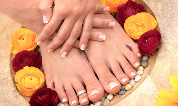 New Hair Concept - Parkside: One or Two Mani-Pedis at New Hair Concept (Up to 56% Off)