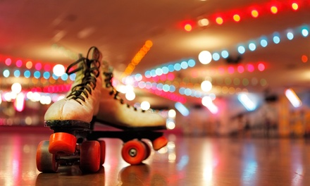 Skate Rentals, Pizza, and Drinks for Two or Four at Roller Cave (Up to 54% Off)
