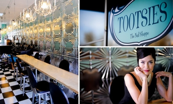 Tootsies the Nail Shoppe - Multiple Locations: $37 for Spa Mani-Pedi at Tootsies the Nail Shoppe ($75 Value)