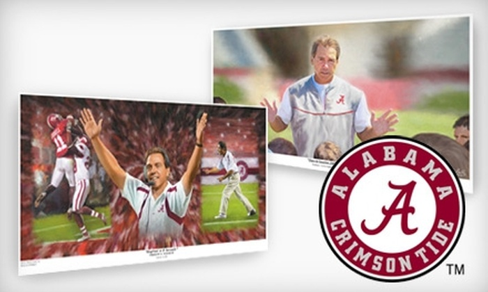 jenniferharwellart - Central City: $59 for a Limited Edition, Artist-Signed Alabama Football Print from jenniferharwellart ($150 Value). Choose Between Two Options.