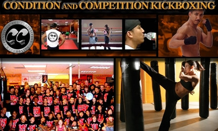 Condition and Competition Kickboxing - North San Jose: $20 for One Month of Unlimited Classes at Condition and Competition Kickboxing ($112 Value)