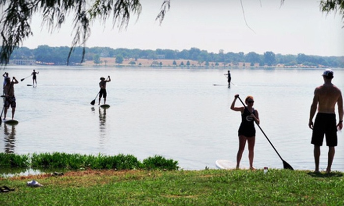 DFW Surf - Grapevine: Standup-Paddleboarding Package for One, Two, or Four with Instruction from DFW Surf in Grapevine (Up to 66% Off)