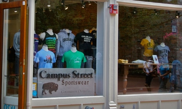 Campus Street Sportswear - Downtown: $15 for $30 Worth of College Apparel at Campus Street Sportswear in Boulder