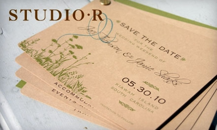 Studio R - Downtown: $12 for $25 Worth of Social Stationery or $50 for $100 Worth of Customized Invitations, Announcements, and More at Studio R