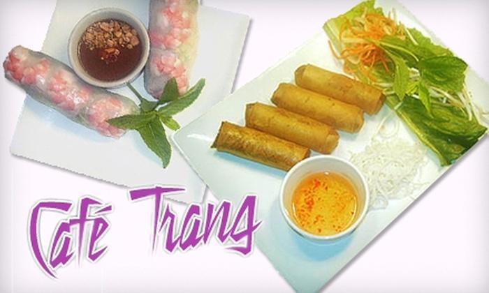 Café Trang - Trumbull Village: $7 for $15 Worth of Authentic Viétnamese Fare at Café Trang