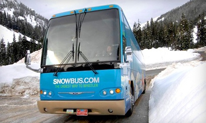 Snowbus - Multiple Locations: Round-Trip Transportation for One, Two, or Four Between Vancouver and Whistler from Snowbus (Up to 53% Off)