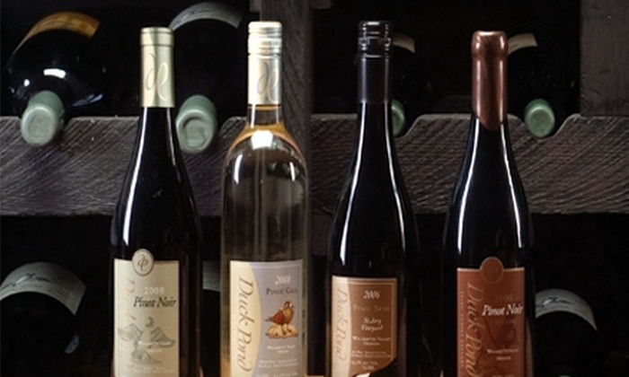 Duck Pond Cellars - Dundee: $40 for a VIP Wine Tour for Four People at Duck Pond Cellars ($80 Value)