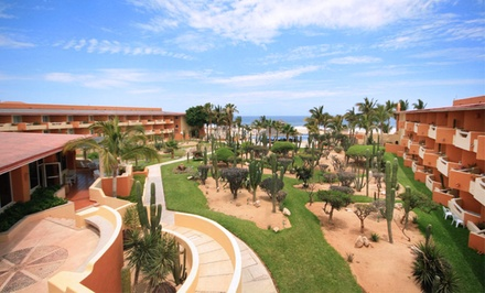 groupon daily deal - 3-, 4-, or 5-Night Stay for Two with Optional All-Inclusive Package at Posada Real Los Cabos in San José del Cabo