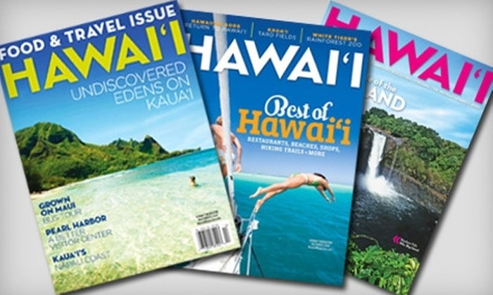"""Hawaii Magazine"": $10 for a One-Year Subscription to ""Hawaii Magazine"" ($20 Value)"