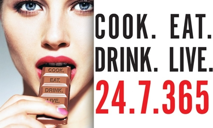 Cook Eat Drink Live - Chelsea: $32 Tickets to Cook Eat Drink Live. Buy Here for Sunday, November 8, 2 p.m. to 6 p.m. See Below for More Dates.