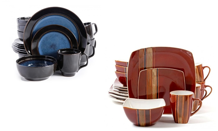 Gibson Elite Dinnerware Sets (16-Piece) ...  sc 1 st  Groupon & Dinnerware Sets (16-Piece) | Groupon Goods