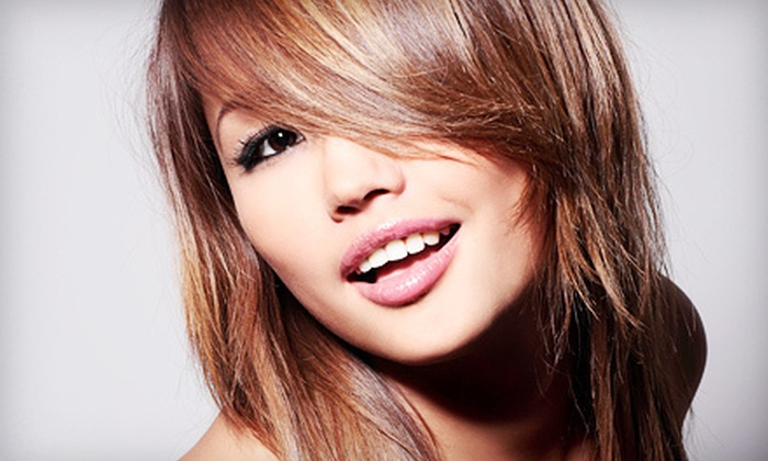 Pure Beauty Salon - Sandy: Haircut with Optional Deep-Conditioning Treatment, Full Color, or Both at Pure Beauty Salon in Sandy (Half Off)