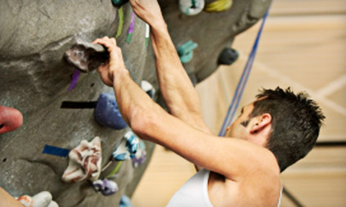 Climb Time Indy - Hearth Stone: $20 for Three Indoor Rock-Climbing Sessions with Harness, Shoes, and Chalk at Climb Time Indy ($60 Value)