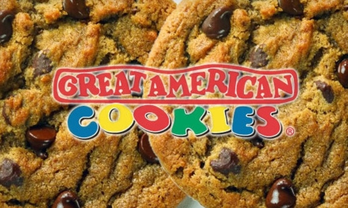 "Great American Cookies - Multiple Locations: $14 for a 16"" Round Cookie Cake from Great American Cookies ($30.51 Value)"