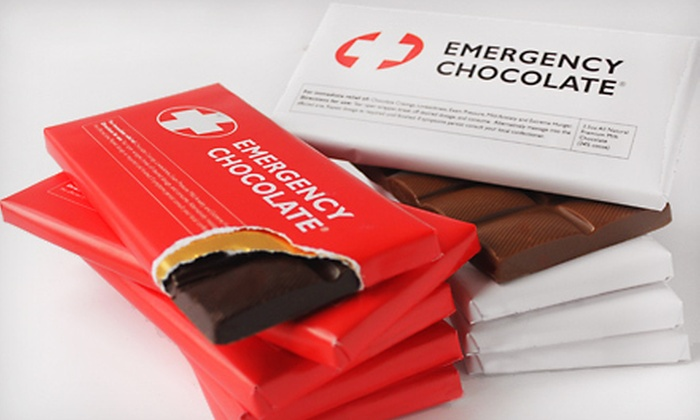 Emergency Chocolate - 10 Bars: $25 for a Bloomsberry & Co. Emergency Chocolate 10-Pack ($50 Value)