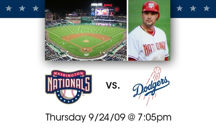 Washington Nationals - Washington DC: $18 for $30 Tickets to Washington Nationals vs. LA Dodgers. Buy Here for Left Field Box Seats. See Below for LF/RF Mezzanine Seats.
