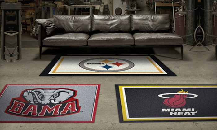 My Sports Rug: NFL, MLB, NHL, NBA, or NCAA Team Rugs from My Sports Rug (Up to 54% Off). Two Options Available.