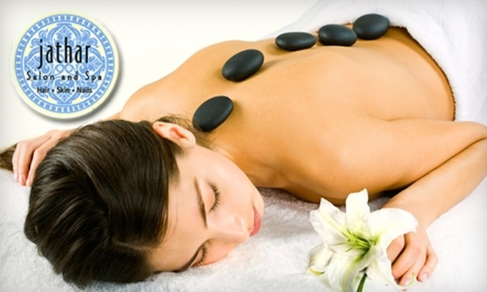 Jathar Salon and Spa - Warrendale: $55 for a One-Hour Hot-Stone Massage ($115 Value), $35 for a Spa Facial ($75 Value), or $25 for a Mani-Pedi ($50 Value) at Jathar Salon and Spa in Waltham
