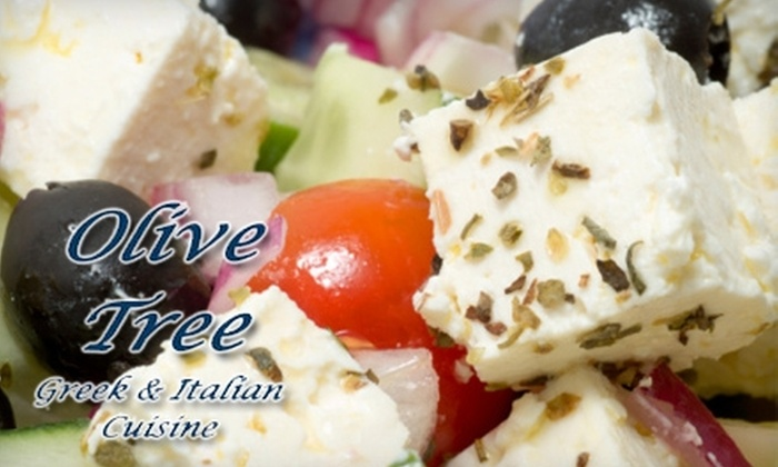 The Olive Tree - Westfork Business Park: $12 for $25 Worth of Greek and Italian Cuisine and Drinks at The Olive Tree