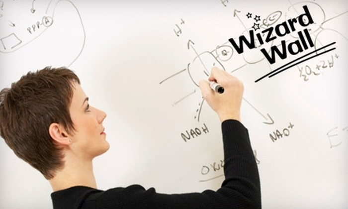 Wizard Wall: Portable Whiteboard Film from Wizard Wall. Three Options Available.