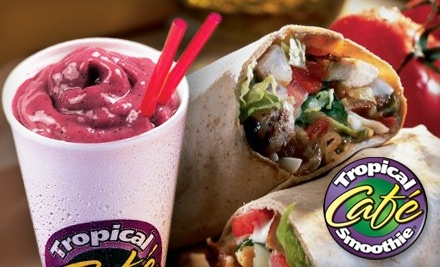 $10 Groupon to Tropical Smoothie Cafe - Tropical Smoothie Cafe in Columbus
