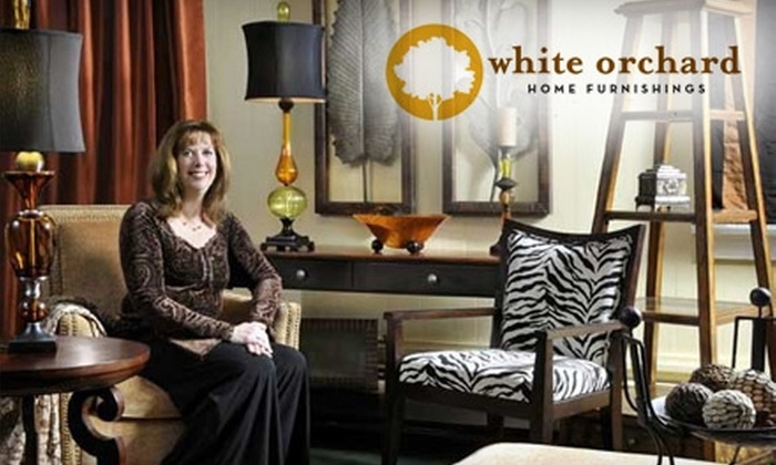 White Orchard Home Furnishings - Orchard Park: $20 for $100 Worth of Furniture and Accessories or $40 for Home Consultation and Decorating Plan ($100 Value) at White Orchard Home Furnishings