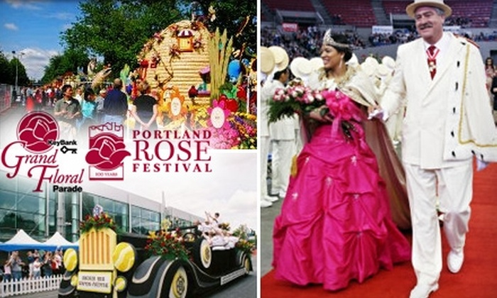 Portland Rose Festival - Lloyd District: $15 for One Indoor Reserved-Seat Ticket to the Portland Rose Festival's Grand Floral Parade and Queen's Coronation on June 12