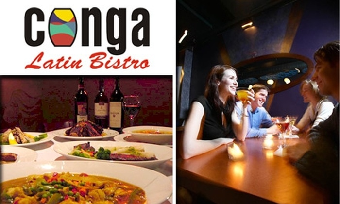 Conga Latin Bistro Minneapolis - Multiple Locations: $10 for $25 Worth of Latin American Cuisine, Drinks, and Dancing at Conga Latin Bistro