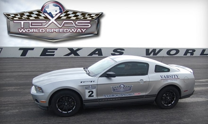 Texas World Speedway - College Station: $112 for a Ride & Drive Package ($225 Value)