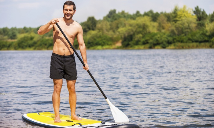 Barefoot Paddler - Shore Acres: Standup Paddleboard Lesson for One or Two at Barefoot Paddler(Up to 64% Off)