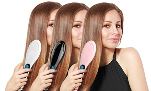 Magic Silky LED Straightening Detangling Hair Brush