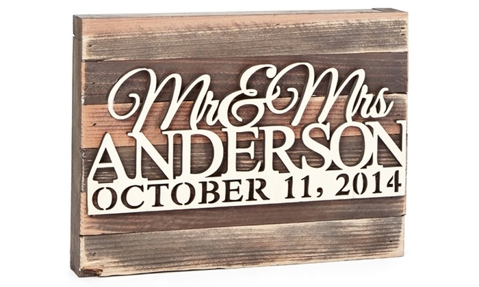 """aMonogram Art: 9""""x12"""" or 12""""x18"""" Personalized Wooden Board from aMonogram Art (50% Off)"""