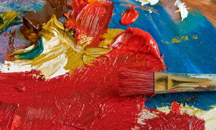 Maya Imani Watson [arts Driven] - Houston: 120-Minute Paint Party Social and 2 Hand Painted Wine Glasses from Maya Imani Watson [Arts Driven] (45% Off)