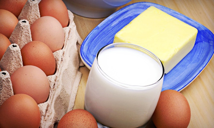 Portland Milk - Portland: $16 for Delivery of Three Half-Gallons of Milk,  Pound of Butter, and One Dozen Eggs from Portland Milk ($33.11 Value)
