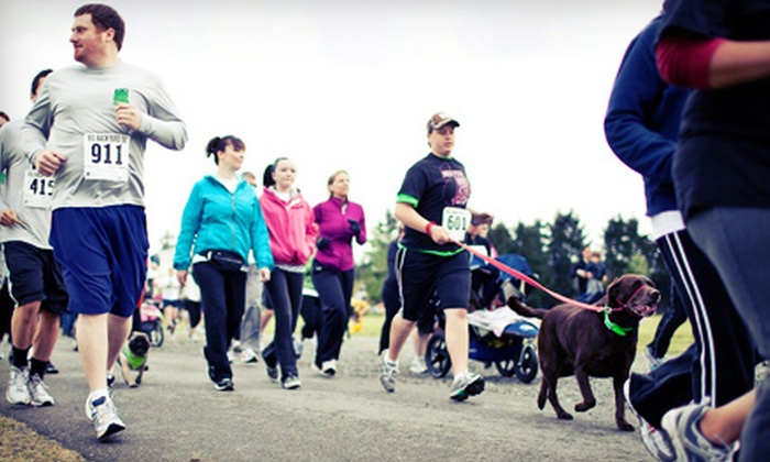 Big Backyard 5K Presented by Group Health - Southeast Redmond: Big Backyard 5K Presented by Group Health at Marymoor Park on June 2 (Up to 53% Off). Three Options Available.