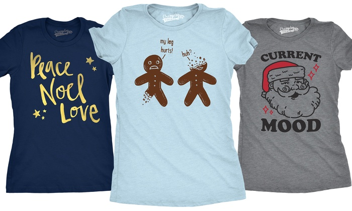 womens christmas tees groupon goods