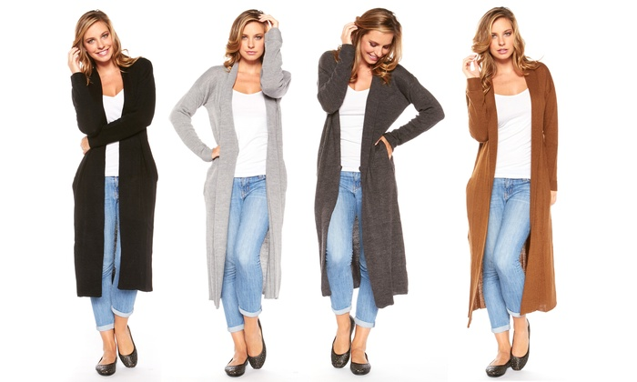 e354863ebd2892 Women s Solid-Colored Long Cardigan