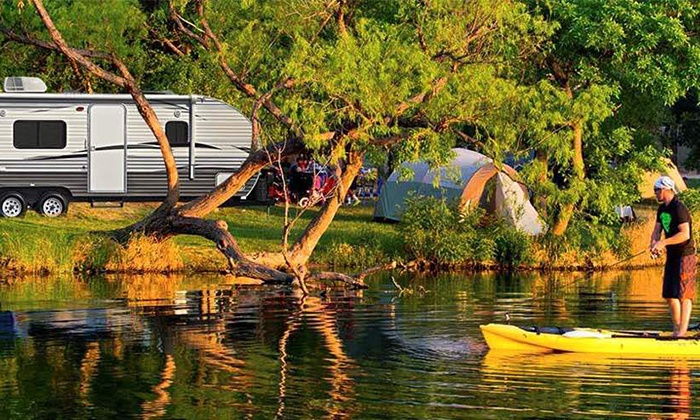 OK RV Recreational Rentals - Kelowna: Travel Trailers and Pontoon Boat Rentals at OK RV Rentals (Up to 60% Off). Two Options Available.