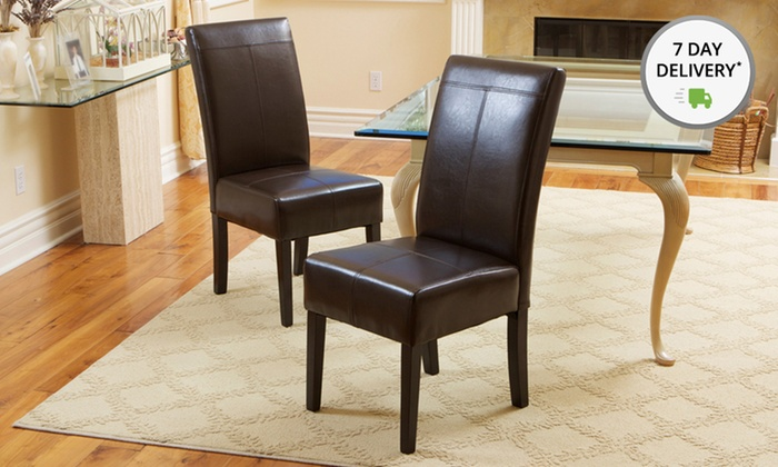 Set of Two Fitzgerald Dining Chairs : Set of of Two Chocolate Brown Fitzgerald Dining Chairs. 90-Day Manufacturer's Warranty.