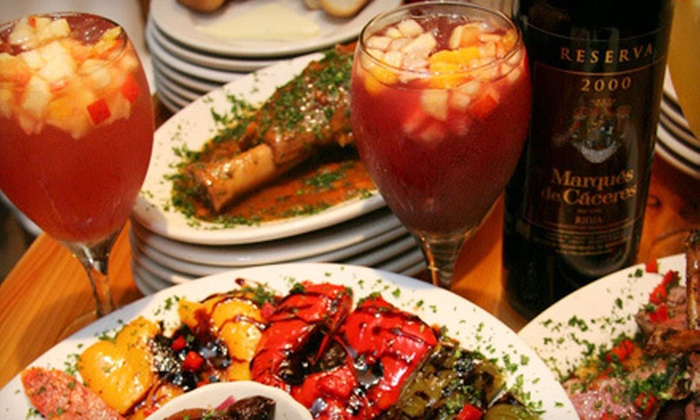 Sangria Tapas Bar - Main Street Merchants: $10 for $20 Worth of Small Plates and Drinks at Sangria Tapas Bar