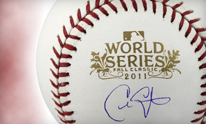 Powers Collectibles: $149 for 2011 World Series Baseball Autographed by Chris Carpenter from Powers Collectibles ($308.95 Value)