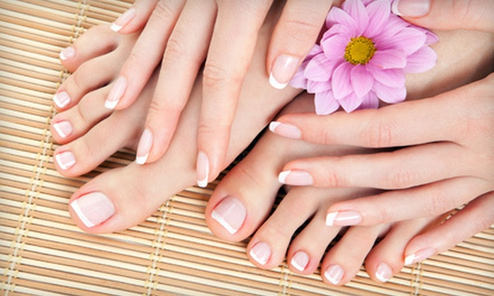 Nails Design - Kent: $59 for a Spa Package with Mani-Pedi, Foot Massage, and Facial at Nails Design in Kent ($140 Value)