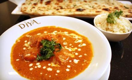 $30 Groupon to Diya Restaurant, Lounge & Banquet - Diya Restaurant, Lounge & Banquet in Vienna