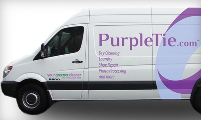 PurpleTie - Redwood City: $15 for $30 Worth of Dry-Cleaning and Laundry Services with Pick-up and Delivery from PurpleTie in Redwood City
