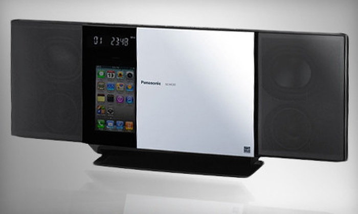 Panasonic Stereo System with CD Player, AM/FM Tuner & iPod Dock: SC-HC35 or SC-HC55 Panasonic Stereo Systems with iPod Dock from Beach Camera (Up to 61% Off). Ships in 7 to 12 days. May not arrive by 12/24.