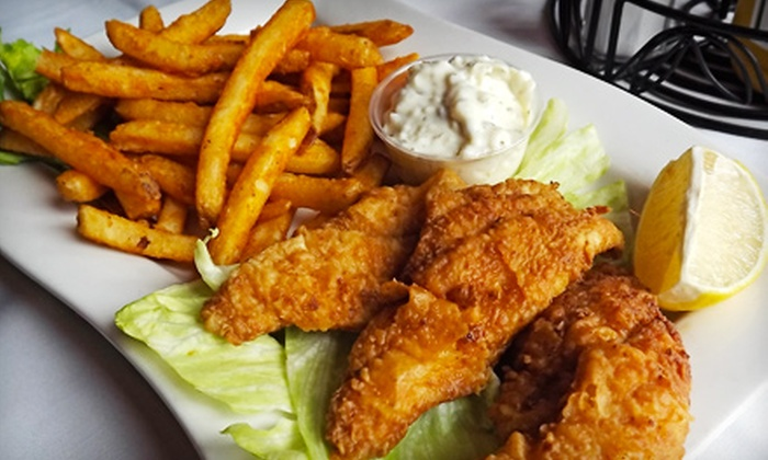 The Red Grape Lounge - Downtown: Classic American Meal for Two or Four at The Red Grape Lounge