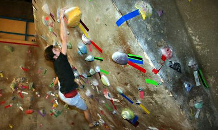 The Crux Climbing & Bouldering - Northeast Calgary: $40 for a Climbing Package with Introductory Lesson and One-Month Pass to The Crux Climbing & Bouldering ($107.50 Value)