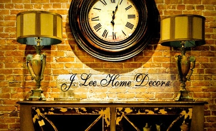 $30 Groupon to J. Lee Home Decor - J. Lee Home Decor in De Pere