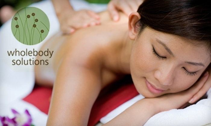 Wholebody Solutions - Quincy: $35 for a 60-Minute Therapeutic Massage ($75 Value) or $45 for an Organic Facial of Your Choice ($105 Value) at Wholebody Solutions in Quincy