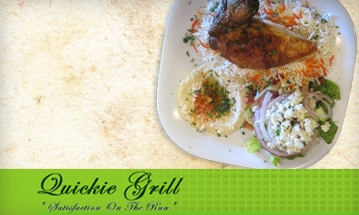 Quickie Grill - Canoga Park: $5 for $10 Worth of Fresh, Made-to-Order Mediterranean Fare at Quickie Grill in Canoga Park